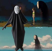 No Face Man Spirited Away Cosplay Costume with Mask gloves for Halloween Anime Miyazaki Hayao Faceless Cloak