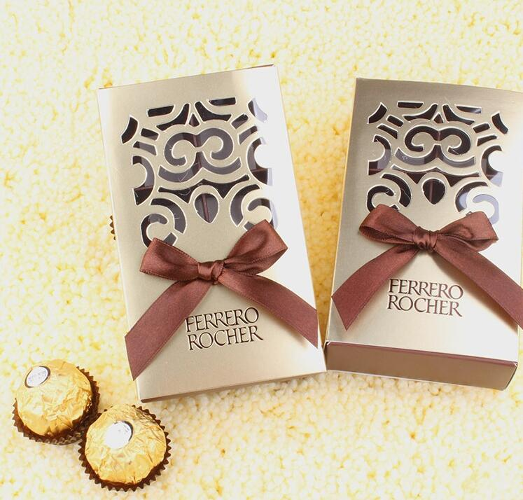 FERRERO ROCHER Boxes Wedding Favors Sweet Gifts Bags Party Supplies Baby Shower Ferrero