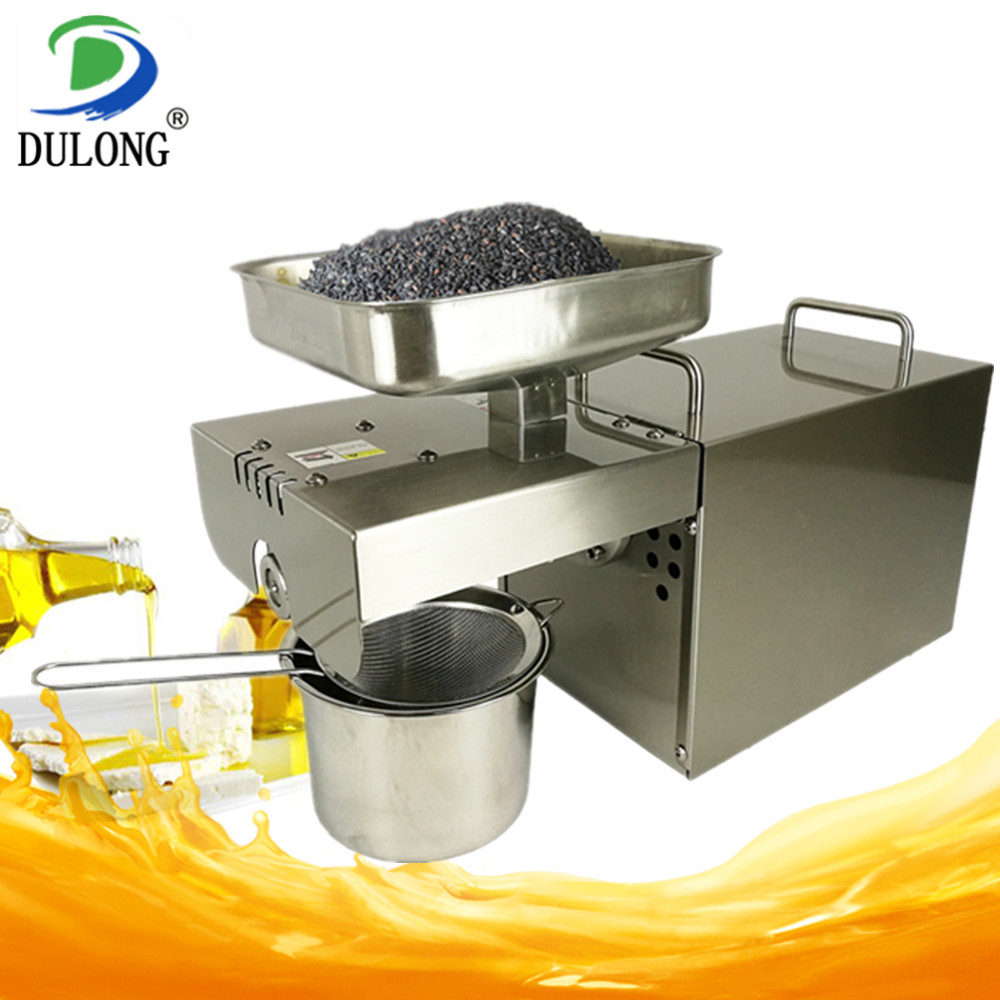 Cold And Hot Oil Press Machine Stainless Steel Press Oil Machine Commercial And Home Oil Presser Suitable For Peanut Olives etc 220v heat and cold home oil press machine peanut cocoa soy bean oil press milling machine for sale