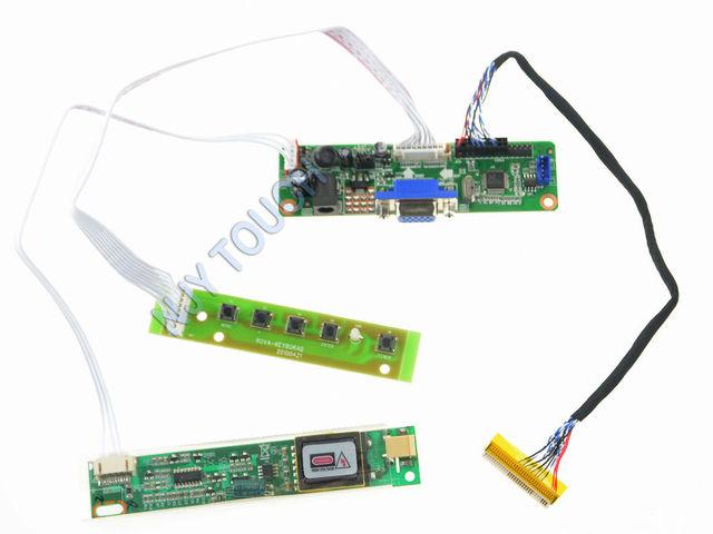 """Frete Grátis V. M70A VGA LVDS LCD Kit Controlador Board Para 17 """"LTM170EU 4 LVDS CCFL 17 polegada 1280x1024 Tela LCD LTM170EU-L31"""
