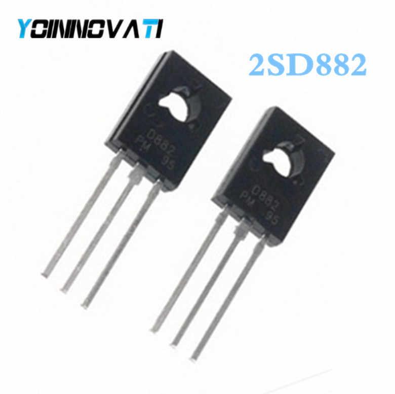 10 Stks/partij Triode Transistor D882 2SD882 3A/40V Npn Power Triode Paar/Match Met B772 Beste Kwaliteit