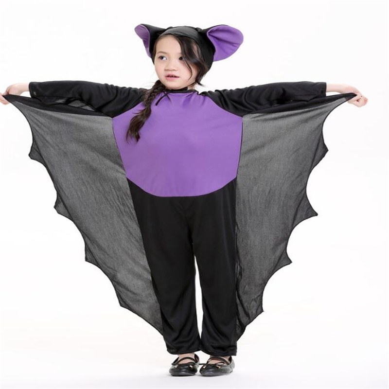 Funny Kids Batgirl Costume Halloween Children Carnival Performance Cosplay Clothing