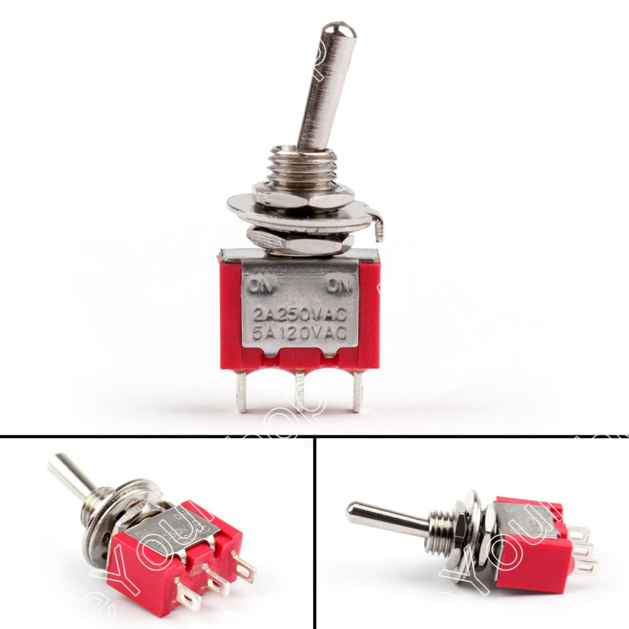Areyourshop MTS-102 Toggle Switch Mini 6mm 3 Pin 2 Position ON-ON 5A/125VAC 2A/250VAC 8PCS Toggle Sw 5 x on off small toggle switch miniature spst 6mm ac250v 3a 120v 5a