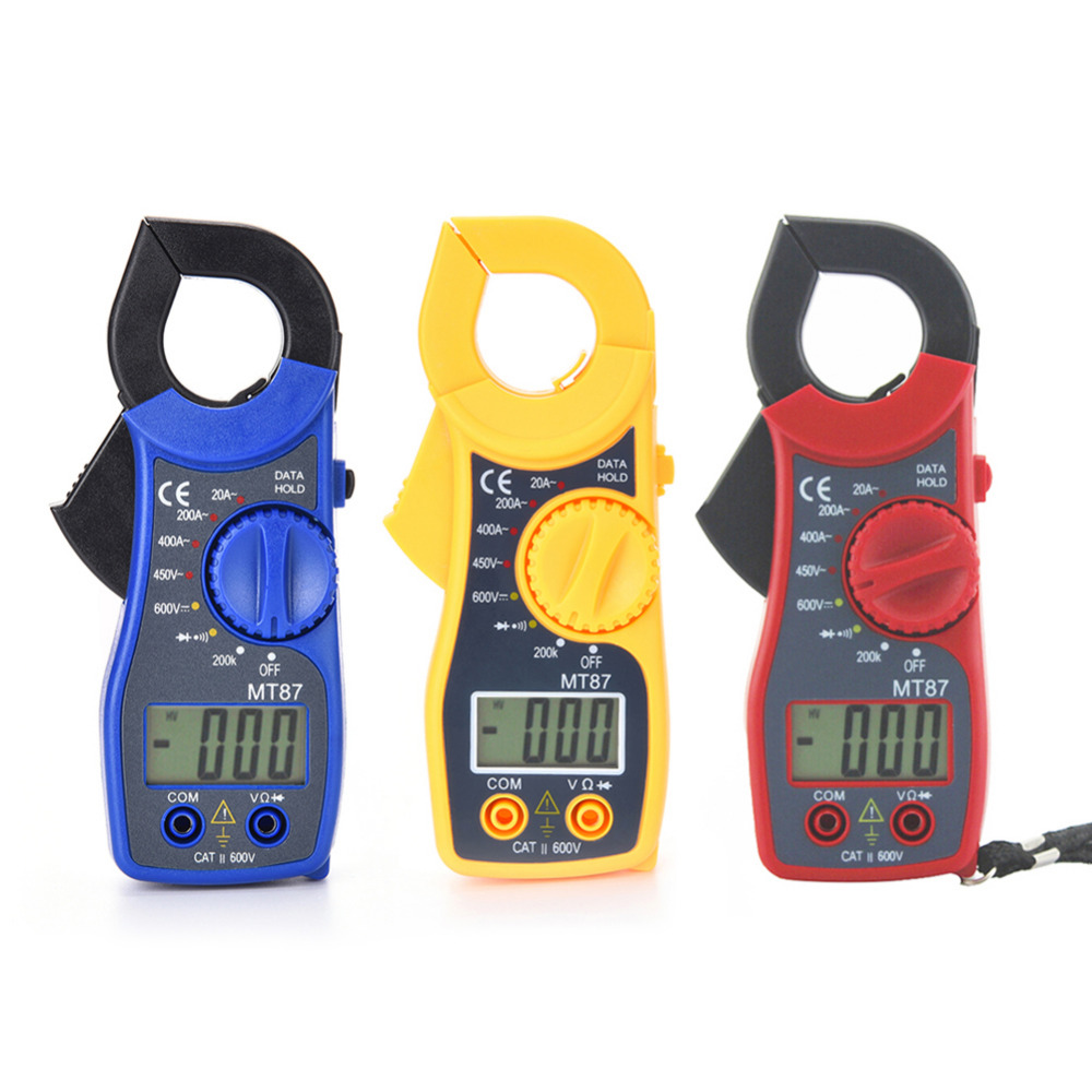 Portable MT87 LCD Digital Clamp Meters Multimeter With Measurement AC/DC Voltage Tester Current Resistance Multi Test Portable MT87 LCD Digital Clamp Meters Multimeter With Measurement AC/DC Voltage Tester Current Resistance Multi Test