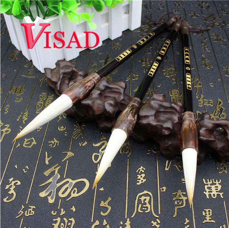 3 pcs/pack best Chinese Calligraphy Brushes Pen for Weasel Hair Writing Painting Brush Lian brush compatible projector lamp for benq 9e 08001 001 mp511