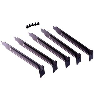 Image 4 - 5 יח\חבילה שחור קשיח פלדה PCI חריץ מכסה סוגר w/ברגים, מלא התרחבות פרופיל אבק מסנן צלחת לתלייה עבור PCI
