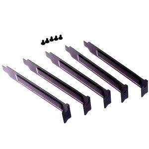Image 4 - 5 teile/los Schwarz Harten Stahl PCI Slot Abdeckungen Halterung w/Schrauben, volle Profil Expansion Staub Filter Stanzen Platte für PCI