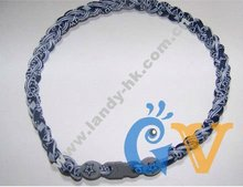 USA Team Cowboys Titanium Triple Braided Sport Power Core Necklace, 3 Ropes, 50pcs/lot, Free Shipping