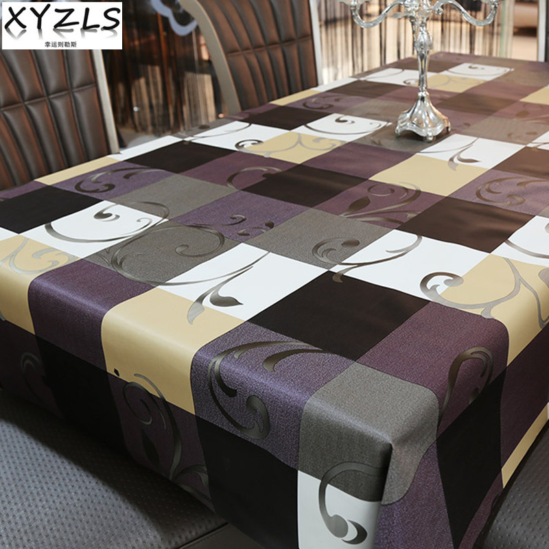 Xyzls 2017 european retro table cloth pvc tablecloth waterproof insulate plastic coffee Coffee table tablecloth