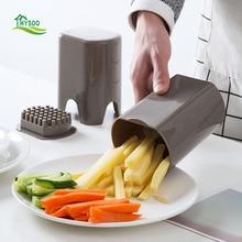 Daugiafunkcinis supjaustytas bulvytės bulvytės pjaustytas melionas. Prancūzijos bulvių peilis. Buitinė virtuvė. Prancūzijos mini taškų įrankis