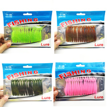 Hot Sale 16pcs/Set Soft Silicone Pesca Artificial Soft with salt smell Bait 6cm/1.5g Fishing Lure Swim Bait Fishing Worm Lure155