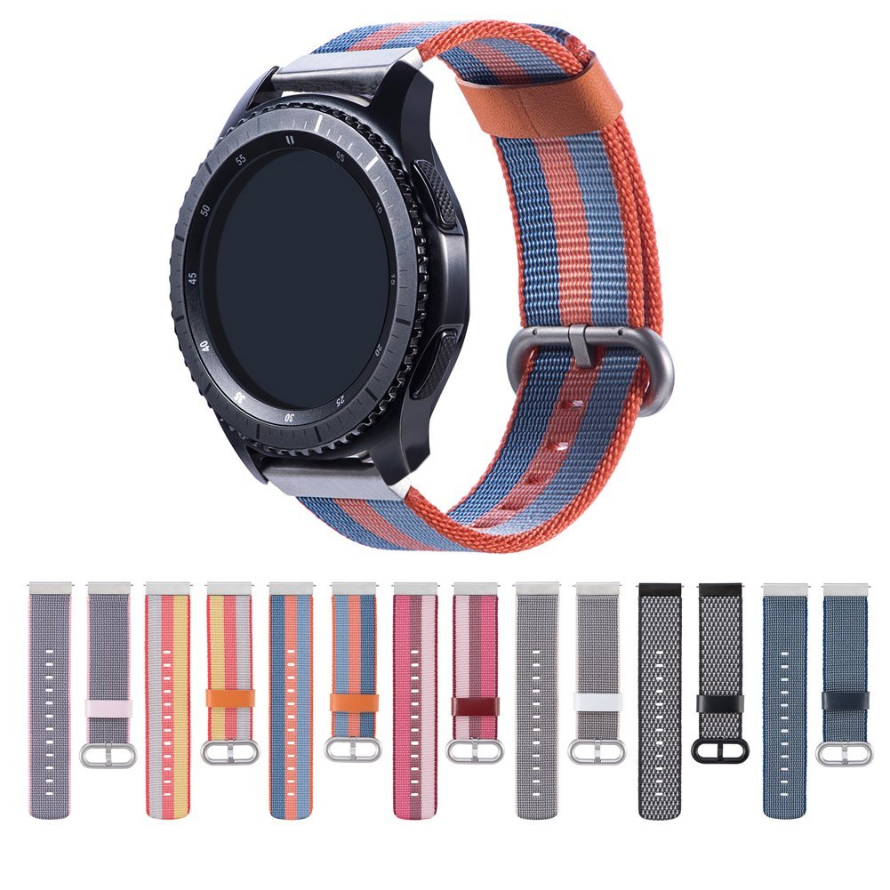 все цены на Nylon Replacement Bands 20mm 22mm Quick Release Breathable Bracelet Strap for Samsung Gear S3 Frontier/Classic /Gear S2 Classic