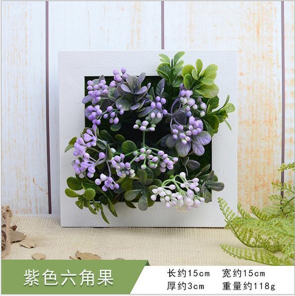 Creative 3D artificiel violet hexagonal fruit simulation plante ...