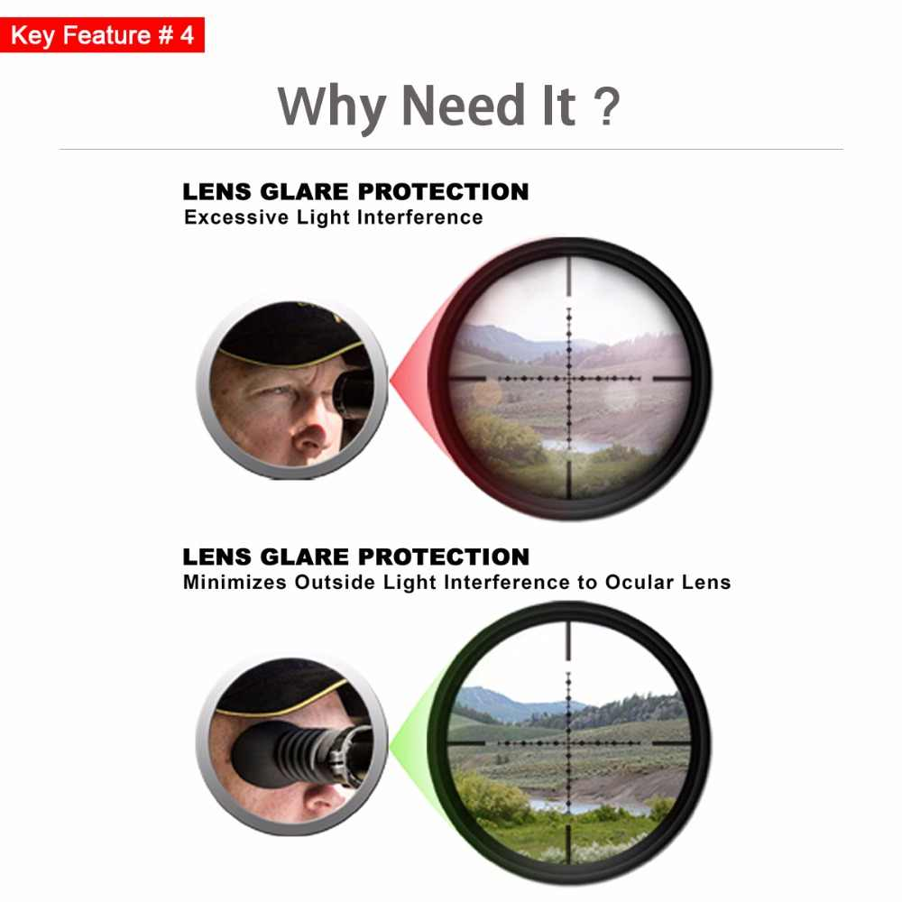 Discovery Hunting Scope Eyeshade Rilfescope Rubber Eyepiece Protector Extender Fit 38mm to 48mm Optical Scope Accessories