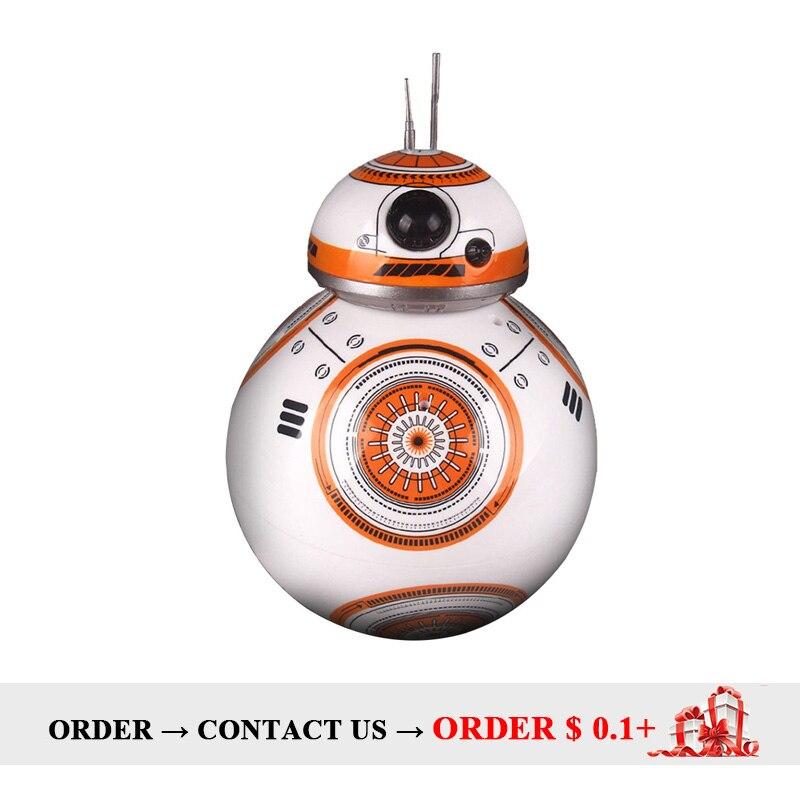 Película Star Wars Juguetes RC BB-8 Robot Star Wars 2,4g control remoto BB8 robot figura de acción Robot inteligente Robot de bola chico niño regalo juguete
