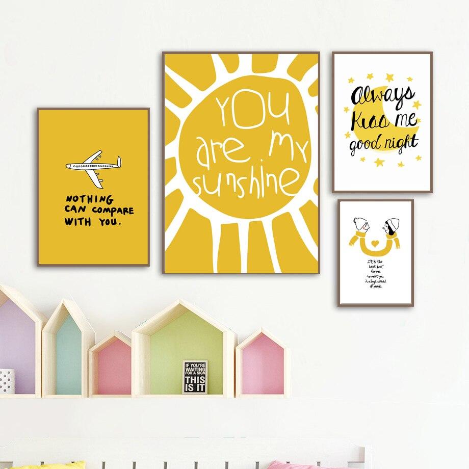 ATTRAYANT Girl Boy Quotes Nordic Posters En Prints Canvas Schilderij - Huisdecoratie