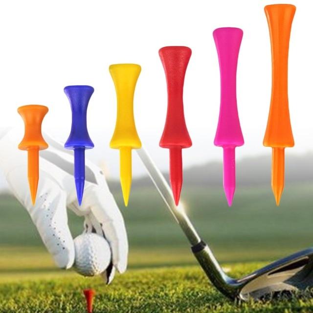 """5 יחידות צבעוני פלסטיק גולף טי צעד למטה בוגר טירה טי בקרת גובה 20 מ""""מ קוטר עבור גולף אביזרי #281460"""