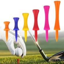 5szt kolorowy plastikowy Golf tee krok w dół stopniowany zamek tee wysokość kontrola 20mm średnica dla Golf akcesoria 281460 tanie tanio Plastikowe Golf Tees Strefa rowerowa orange blue yellow red pink 31mm 37mm 43mm 51mm 57mm 70mm