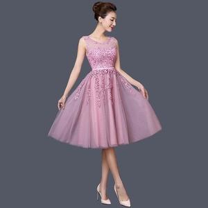 Image 3 - Dongcmy 2020 vestidos curtos de baile, mulheres mini roupa de festa de renda elegante