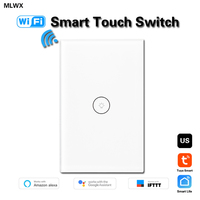 WiFi Smart Wall Light 1 Gang Switch Glass Touch Panel Wireless Remote Control by Mobile APP Anywhere Compatible with Alexa