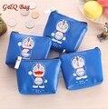 2016 Lindo Kawaii Doraemon de la Historieta de LA PU de Cuero A Prueba de agua Llave Del Monedero de la Cremallera Monedero Mini Bolso Del Organizador Para Las Mujeres y Los Niños regalo