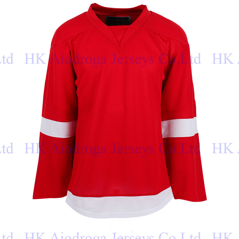 Custom Red Embroidery Stitch Quick-Dry Flexible Long T-shirts Cheap Wings ICE Hockey Jersey Shirt Jersey For Men Women Yoth(China (Mainland))