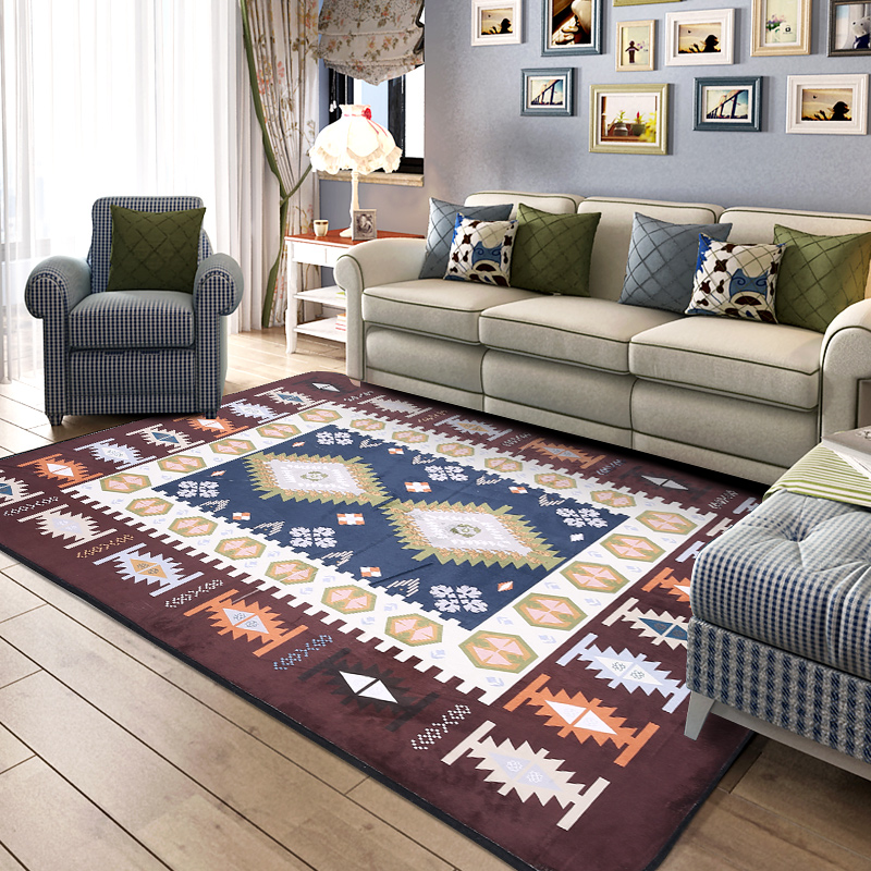 Mediterranean style Decor Carpets for Living Room Kids Game Carpet Child Bedroom Crawl Rugs Study Rectangular Floor Tapete/RugMediterranean style Decor Carpets for Living Room Kids Game Carpet Child Bedroom Crawl Rugs Study Rectangular Floor Tapete/Rug