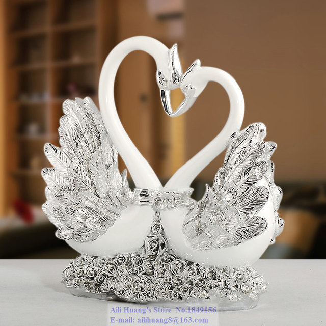 A80 Rose Heart Swan Wedding Gift Ideas Resin Ornaments Home Decor New