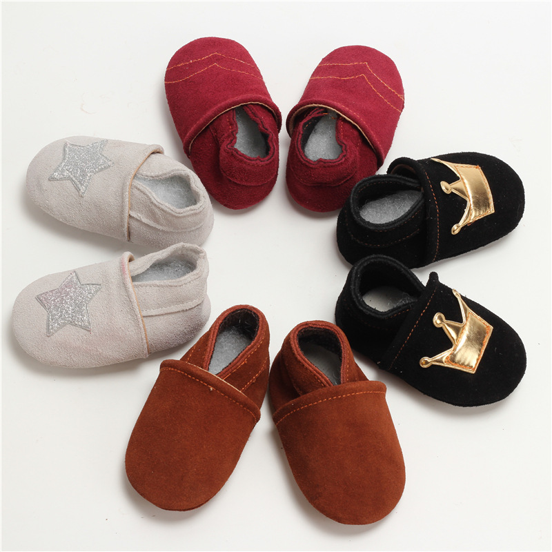 Hot Sale Genuine Leather Suede Infant Toddler Newborn Baby Kids First Walkers Shoe Leisure Handsome Moccasins
