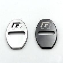 Car-styling Stainless Steel Door lock cover case for Audi VW VOLKSWAGEN polo golf 5 tiguan touran passat b5 b6 accessories 4pcs