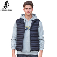 Pioneer Camp Sleeveless Down Jacket Men Brand Male Autumn Spring Casual Ultralight Down Vest Slim Men