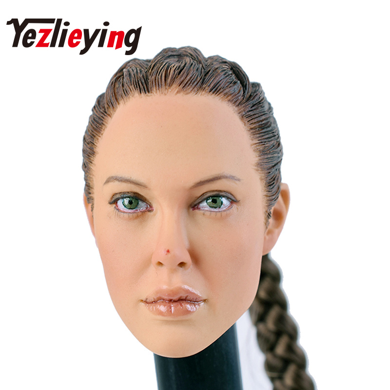 KUMIK13-54 long hair girl female head sculpture model exquisite womens 1/6 head shape 12 female action modeling model