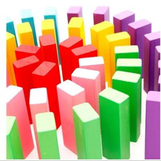 Early Childhood Education  48 Pcs  Overlapping cards of large wooden sizes  Multifunctional Domino  Children's Pagoda Play