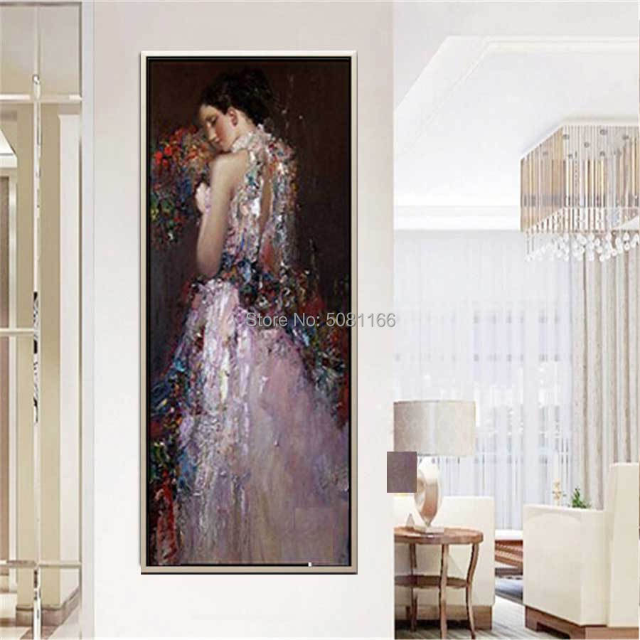 Huge Modern famous figure Oil Painting From Gustav Klimt Women oil painting vertical wall picture art for living room home decor in Painting Calligraphy from Home Garden