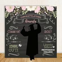 사용자 지정 고등학교 졸업 단계 꽃 잎 검은 배경 고품질 컴퓨터 인쇄 파티 사진 스튜디오 배경