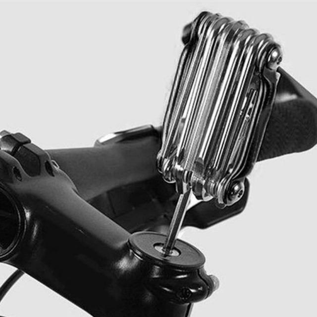 11-in-1 Portable Bicycle Multi Repair Tools Set Hex Spoke Wrench Screwdriver Carbon Steel Folding Kit For Bike