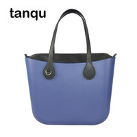 2018 New tanqu Classic EVA Bag with Insert Inner Pocket Colorful Handles with D buckle EVA Waterproof Women Handbag Obag Style