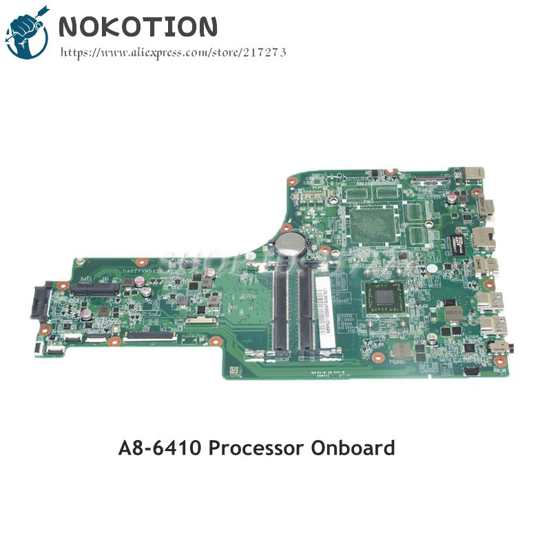 NOKOTION DA0ZYVMB6D0 NBMND11005 NB.MND11.005 PC Motherboard For Acer aspire E5-721 E5-721G MAIN BOARD A8-6410M CPU DDR3 wzsm original usb board with cable for acer aspire e5 521 e5 571 usb board ls b162p tested well