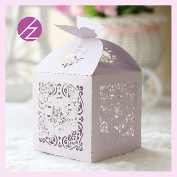 100pcs/lot free shipping Pearl paper laser cut Chinese wedding candy box favor chocolate bags return gifts TH-50 free ribbons