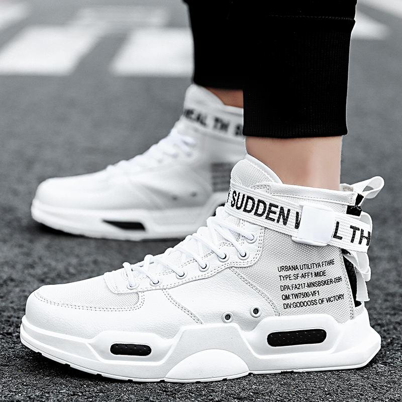 Image 3 - YRRFUOT Fashion High Top Men Shoes Trend  Hot Sale Light Sneakers High Quality Comfortable Casual men Shoes Non slip Flats Shoes-in Men's Casual Shoes from Shoes