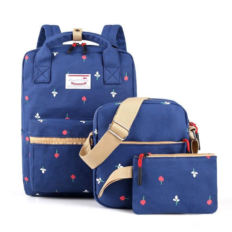 Школьные ранцы для девочек высокое качество печати холст рюкзаки школьные сумки для подростка школьный рюкзак Mochila