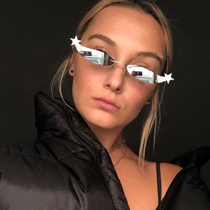 Seemfly 2019 New Style Personality Small Frame Sunglasses Fashion Street Patting Star Sunglasses Round Face Fashion Sun glasses in Women 39 s Sunglasses from Apparel Accessories