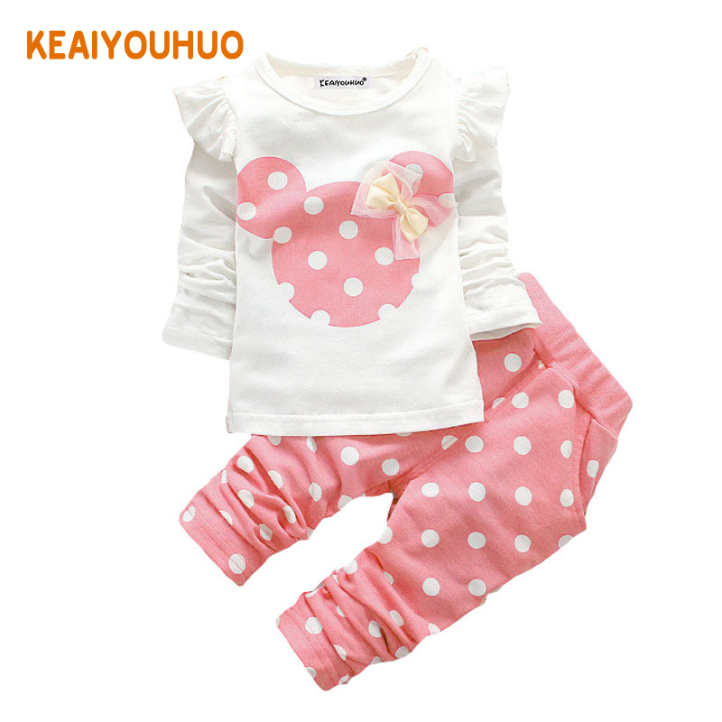 KEAIYOUHUO Children Baby Girl Clothing Sets Kids Clothes