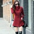 New Europe 2016 Autumn Winter Women's Temperament Woolen Jackets Coats Female Casual Clothing Fashion Women Slim Jackets Coats