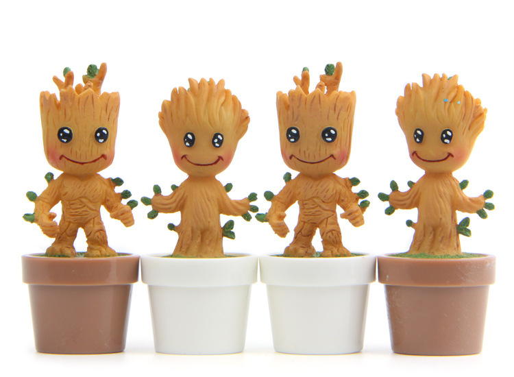 New Cute Brinquedos Guardians Of The Galaxy Mini Cute Groot Baby Tree Model Action And Toy Figures Cartoon Movies And TV 2016 new arrival the guardians galaxy mini dancing tree man action figure model toy doll