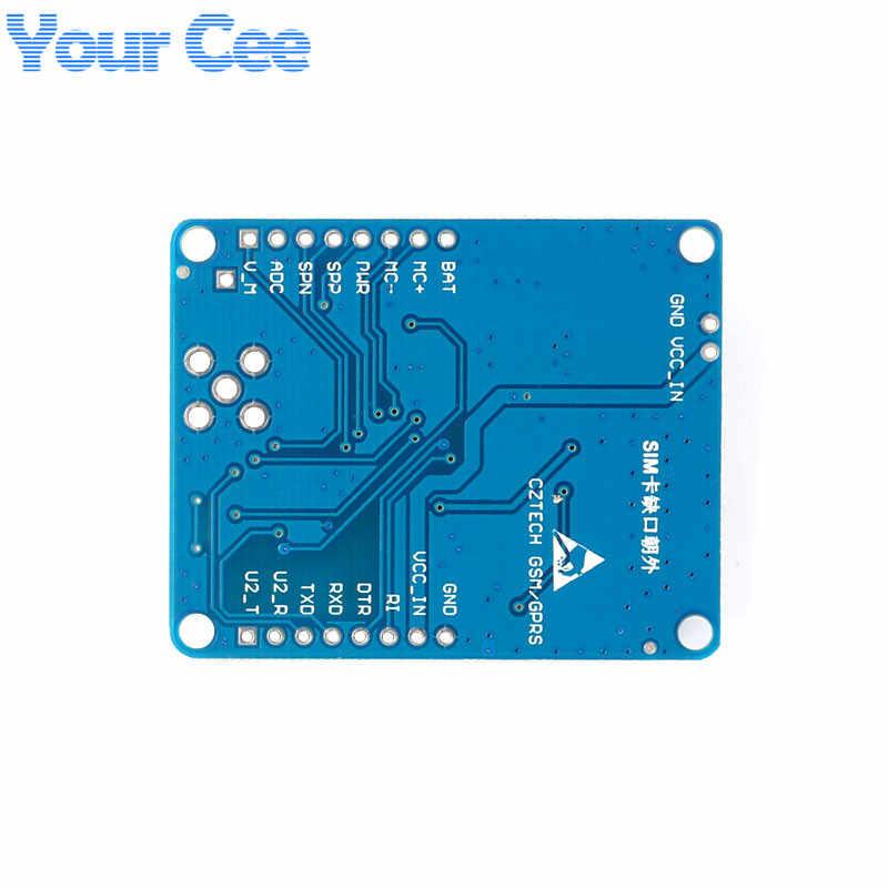 1 pc SIM800C Development Board GSM GPRS Module Support Message Bluetooth  TTS DTMF Quad-band Alternative SIM900A With Glue Stick