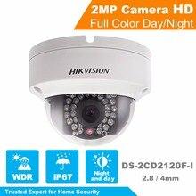 Hikvision 1080 P CCTV Caméra Onvif DS-2CD2120F-I 2.0 Mégapixels Dôme Réseau PoE Caméra IP avec Nuit Version & Cloud StorageEZVIZ
