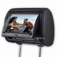 2 Pcs X 9 Inch Automotivo Auto Headrest Monitor DVD Player Car Headrest LCD Monitor Multimedia Audio Video tela encosto carro