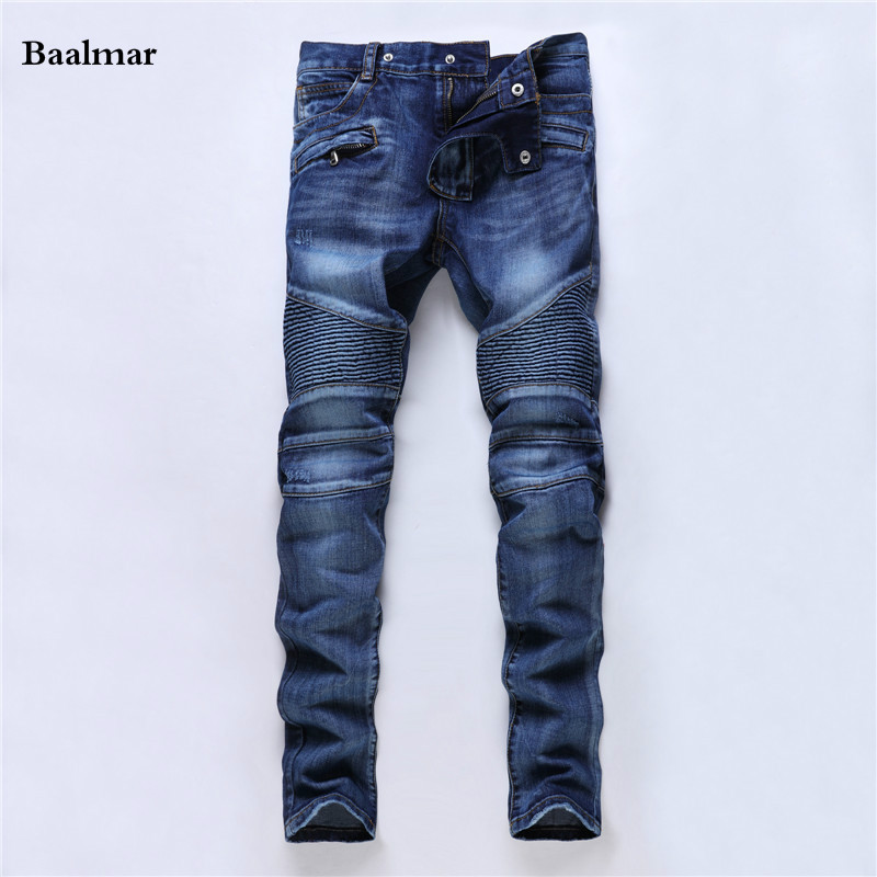 Brand Mens Jeans Straight Ripped Jeans For Men High Quality Button Fly Denim Jeans Men Fashion Designer Pants Jean Homme famous brand mens jeans straight ripped biker jeans for men zipper denim overalls men fashion designer pants blue jeans homme