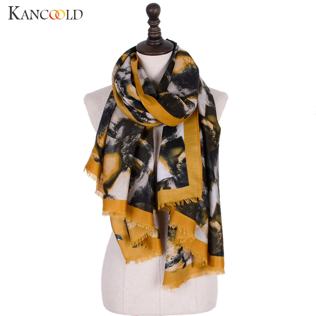 KANCOOLD   Scarf   women Print Colorful Ladies Shawl Fashion Maxi   Scarf     Wrap   Long Tassel Soft high quality   Scarf   Women 2018Nov21